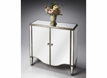 Butler Mirror Door Chest with accentuated Pewter Trim
