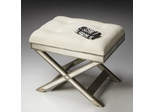 "Butler Mirror ""X"" Legged Vanity Stool"