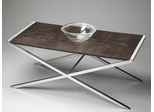 Butler Modern Expressions Crocodile Leather Top Cocktail Table