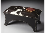 Butler Modern Expressions Polyester Suede and Cowhide Bench