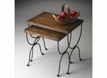 Butler Mountain Lodge Antiqued Mahogany Nesting Tables