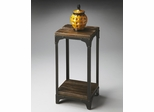 Butler Mountain Lodge Black Iron and Burnt Umber Pedestal Stand