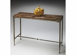 Butler Mountain Lodge Burnt Umber and Pewter Console Table