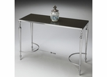 Butler Nickel Finish Aluminum, Iron and granite Top Console/Sofa Table