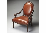 Butler Nutmeg Brown Bi-cast Leather Accent Chair