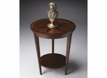 Butler Nutmeg Starburst Inlay Accent Table