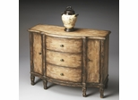 Butler Old Spanish Mission Console Cabinet with Three Dovetailed Drawers