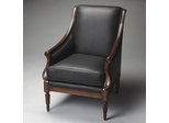 Butler Plantation Cherry Black Bi-cast Leather Accent Chair