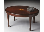 Butler Plantation Cherry Focal Point Linen-fold Inlay Cocktail Table