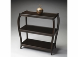 Butler Rubbed Black Traditional Three Shelves Console Table