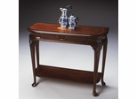 Butler Specialty Console Table Plantation Cherry - Linen Fold Inlay