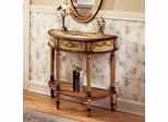 Butler Specialty Demilune Console Table Light Hand Painted
