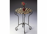Butler Specialty Metalworks Accent Table in Zebra Stripe