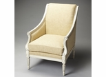 Butler Tan Stripe Bone Finish Accent Chair