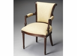 Butler Tan Stripe Colonial Accent Chair