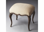 Butler Tobacco Leaf Wooden Serpentine Vanity Stool