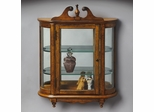 Butler Vintage Oak Mirrored Back Wall Curio