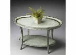 Butler Water's Edge Oval Cocktail Table with Beaded Molding Top