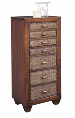 Cabana Banana Jewelry Armoire in Cocoa - Home Styles - 5402-47