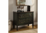 Cabinet with Scroll Motif in Antique Green - 950213
