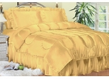 Cal King Bed Sheet Set - Charmeuse II Satin 230TC Woven Polyester in Gold - 100CCB2GOLD