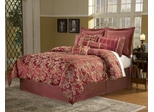 Cal King Size Comforter Set - 14 Piece Set in Crawford Pattern - 82EQ714CRW