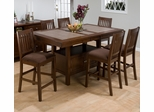 Caleb Brown 7PC Counter Height Table with Butterfly Leaf - 976-72T
