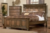 California King Size Bed - Edgewood California King Size Bed in Warm Brown Oak - Coaster - 201621KW