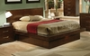 California King Size Bed - Jessica California King Size Bed in Light Cappuccino - Coaster - 200711KW