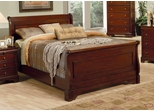 California King Size Bed - Versailles California King Size Bed in Deep Mahogany - Coaster - 201481KW