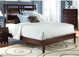 Calvin Queen Low Profile Bed in Cappuccino - B205Q