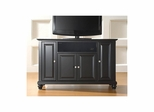"Cambridge 48"" AroundSound TV Stand in Black - CROSLEY-KF1002DASBK"