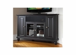 "Cambridge 48"" Corner AroundSound TV Stand in Black - CROSLEY-KF1006DASBK"
