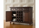 Cambridge Buffet Server / Sideboard Cabinet with Wine Storage in Vintage Mahogany Finish - Crosley Furniture - KF42001DMA