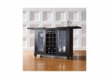 Cambridge Sliding Top Bar Cabinet in Black - CROSLEY-KF40002DBK