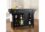Cambridge Solid Black Granite Top Kitchen Island in Black Finish - Crosley Furniture - KF30004DBK