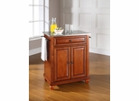 Cambridge Stainless Steel Top Portable Kitchen Island in Classic Cherry - CROSLEY-KF30022DCH