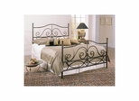 Camden Metal Bed Caramel with Gold Accents - Largo - LARGO-ST-4098AXHF