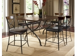 Cameron 7-Piece Counter Height Rectangle Wood Dining Set with X Back Stools - Hillsdale Furniture - 4671CTBRS27