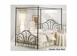Canopy Bed - Dover Canopy Bed in Textured Black