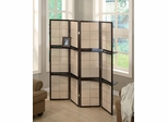 Cappuccino 4 Panel Folding Screen - 900166