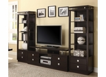 Cappuccino TV Console & 2 Media Towers - 700696