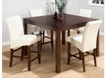 Carlsbad Cherry 5 Piece Pub Table Set with Ivory Chairs - 888-53