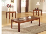Casual 3 Piece Occasional Table Set with Pine Veneers - 700570