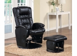 Casual Leather Like Glider with Matching Ottoman - 600154