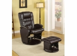 Casual Leather Like Glider with Matching Ottoman - 600164