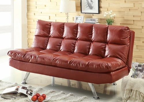 Casual Sofa Bed in Red - 300120