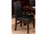Chadwick Espresso Tufted Parson Chair - Set of 2 - 863-945KD
