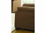 Chair in Brown Microfiber - 9840BR-1
