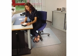 "Chairmat 35"" x 47"" - Clear Rectangular Poly Carbonate Chairmat - Floortex - 118923ER"